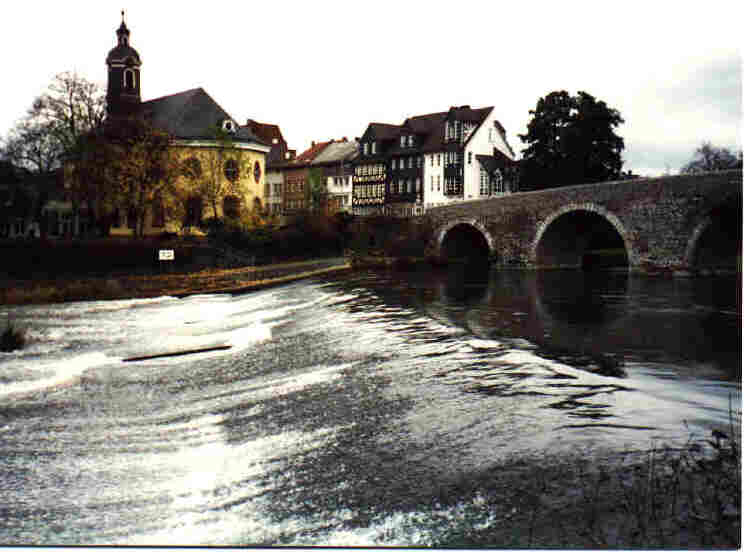 We did a lot of sightseeing, including the bridge on the Lahn at Wetzlar